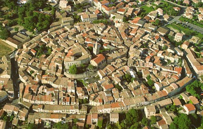 Murviel-les-Beziers Village from air